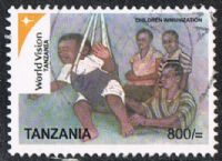 Tanzania SG2596 2007 World Vision (3rd series) 800/- good/fine used